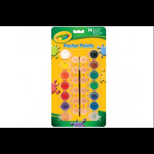 Crayola - Tempera - színes, lemosható, tégelyes