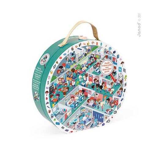 Janod - Képkereső puzzle bőröndben - Sürgősségi osztály - 208 db-os