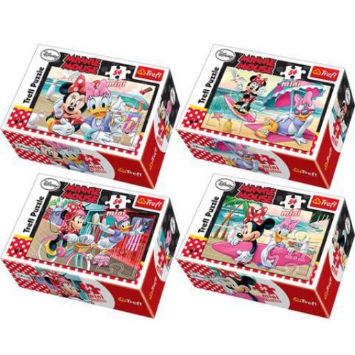 Trefl - Minnie egér - 54 db-os mini puzzle