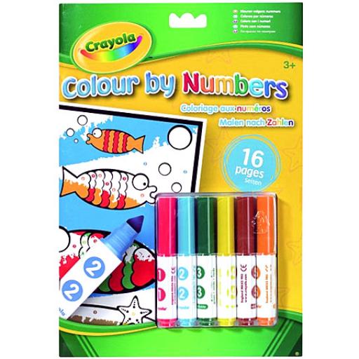 Crayola - Szám szerinti kifestő - 16 lapos