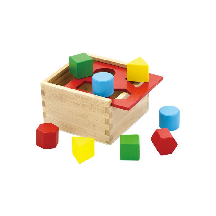 Fajáték - Formakereső doboz - színes