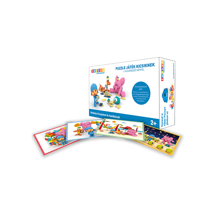 Pocoyo - Puzzle játék kicsiknek - 4 különböző képpel