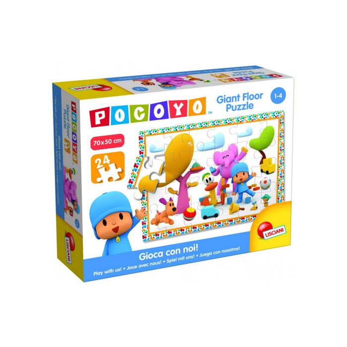 Pocoyo - 24 db-os Disney Parkettpuzzle - Pocoyo és barátai