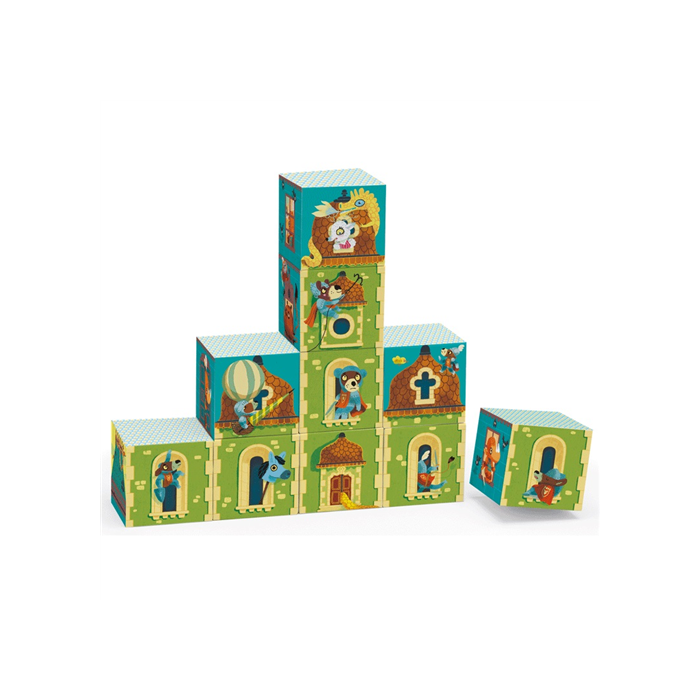 Djeco - Építőjáték - Mesebeli kastélyok