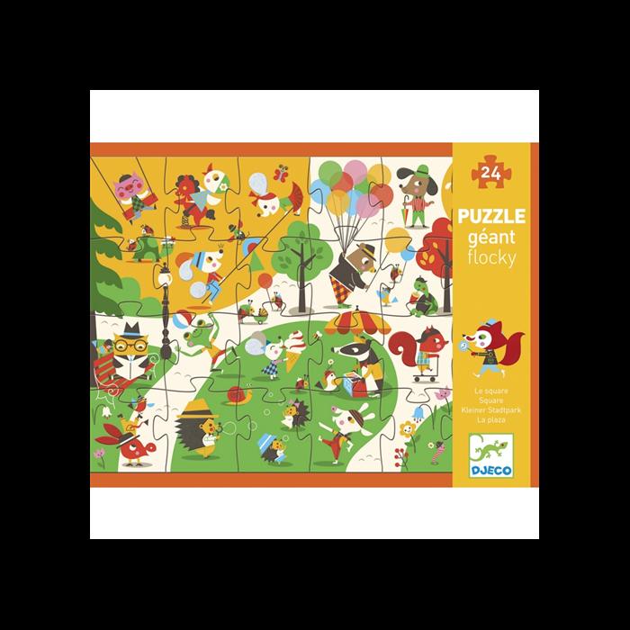 Djeco - Óriás puzzle - Játszótér - 24 db-os