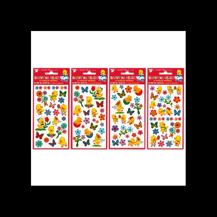 Húsvéti tojás matrica festékekkel