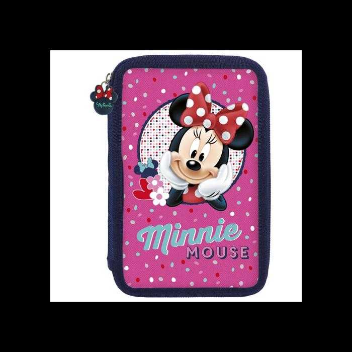 Minnie - Tolltartó - cipzáros, rózsaszín