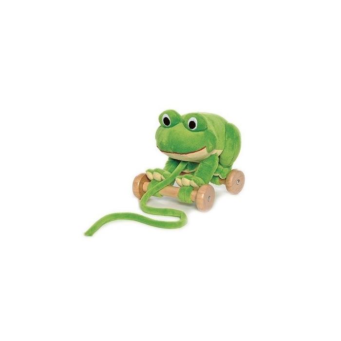 Teddykompaniet - Húzható béka - 20 cm