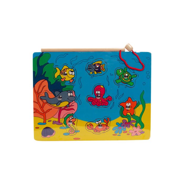 Fajáték - Mágneses horgász puzzle - polipos