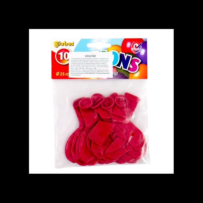 Bordó, szív alakú lufi csomag - 10 db