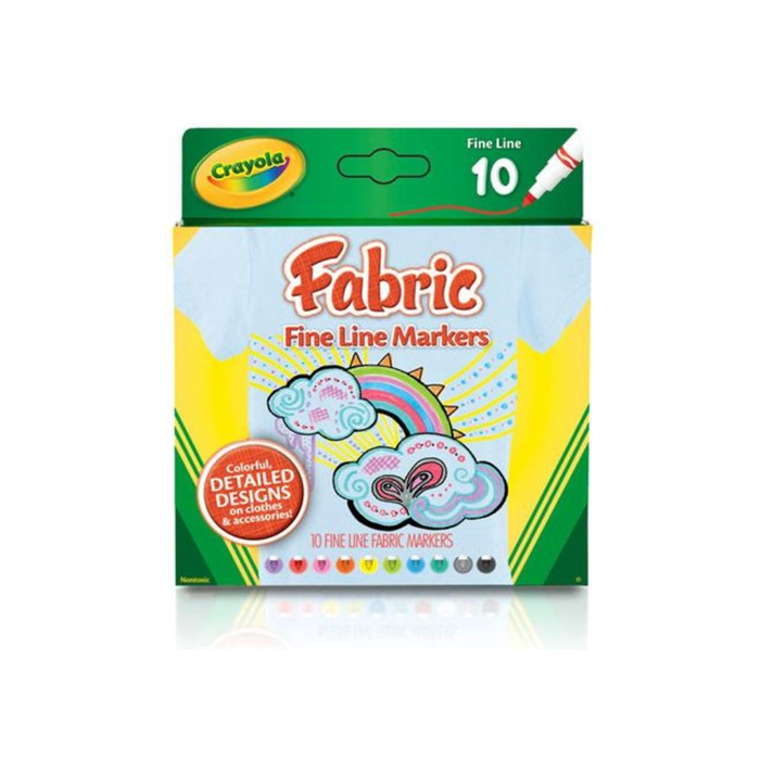 Crayola - Textilfilc - 10 db-os