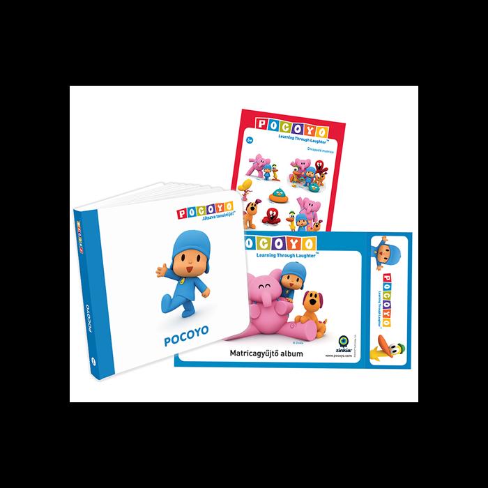 POCOYO ajándékcsomag (könyv, matricagyűjtőalbum, matricacsomag)