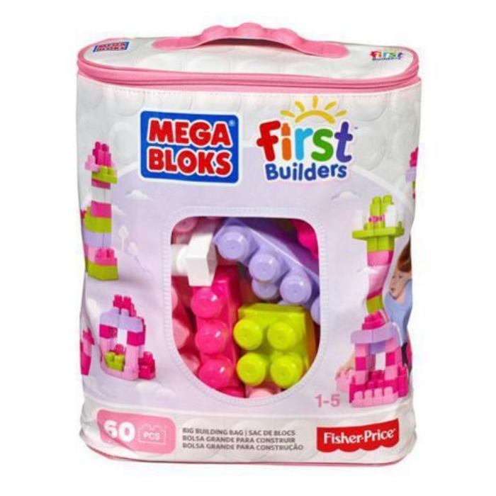 Mega Bloks - Nagy építő csomag - lányos, 60db