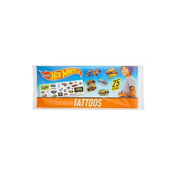 Hot Wheels - Mini tetoválás készlet - 25 db-os