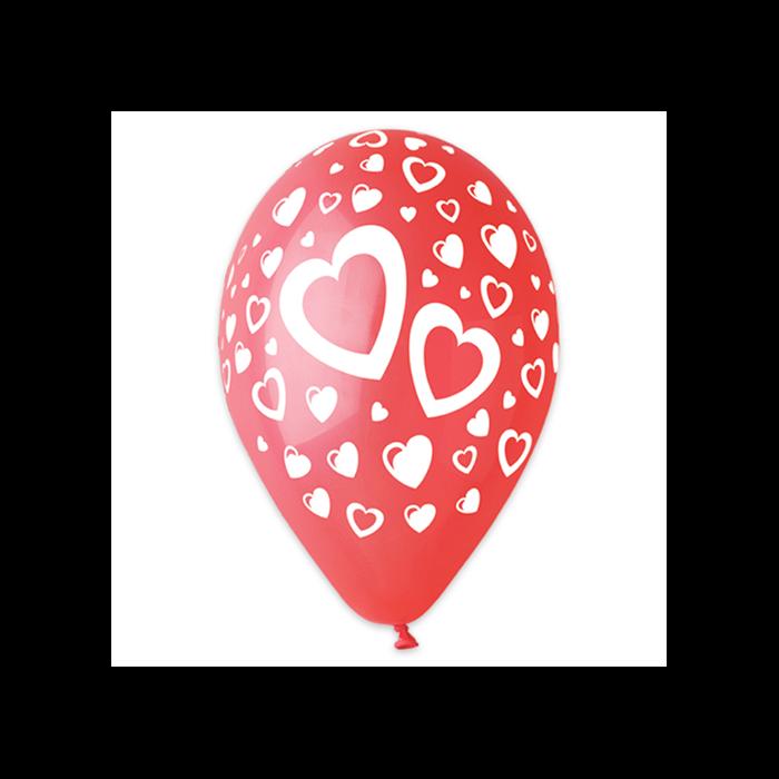 Lufi - Szív mintás, 10 darabos - 30 cm