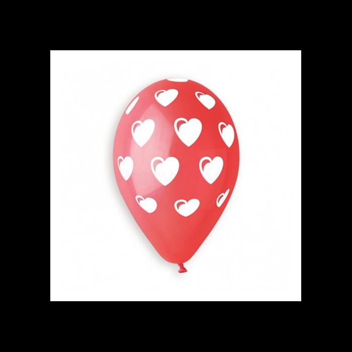 Lufi - Szíves, 10 darabos - nagy szívekkel - 30 cm