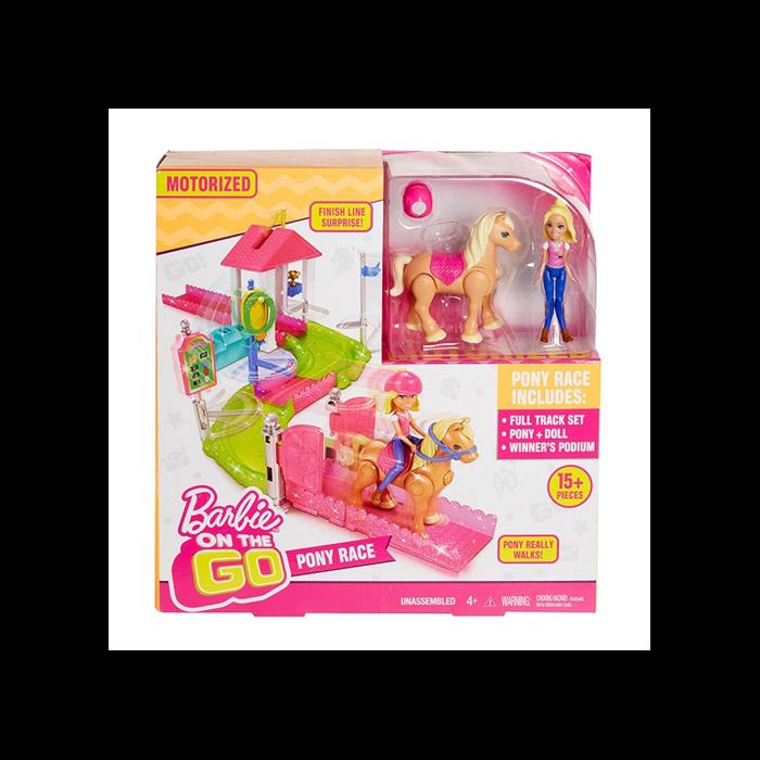 Barbie on the Go - Baba pónival játékszett