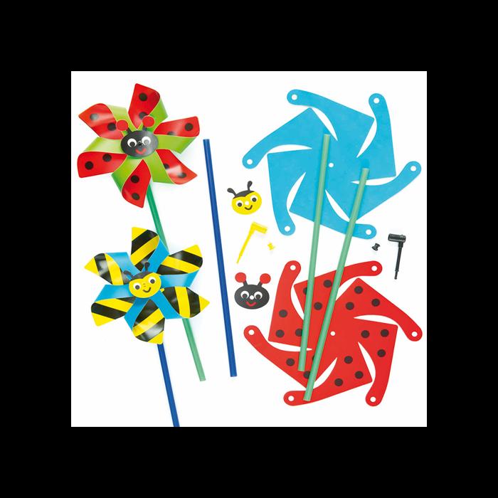 Baker Ross - Pálcika szélmalom készítő szett - bogarak