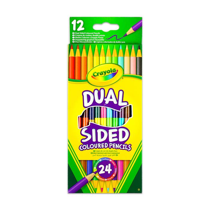 Crayola - Kétvégű színes ceruza - 12 darabos