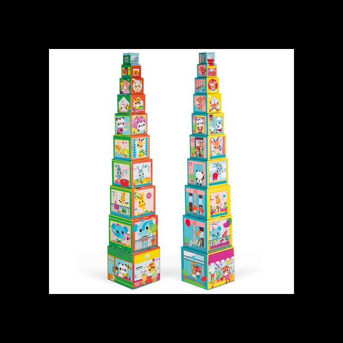 Janod - Városlakó állatok piramis