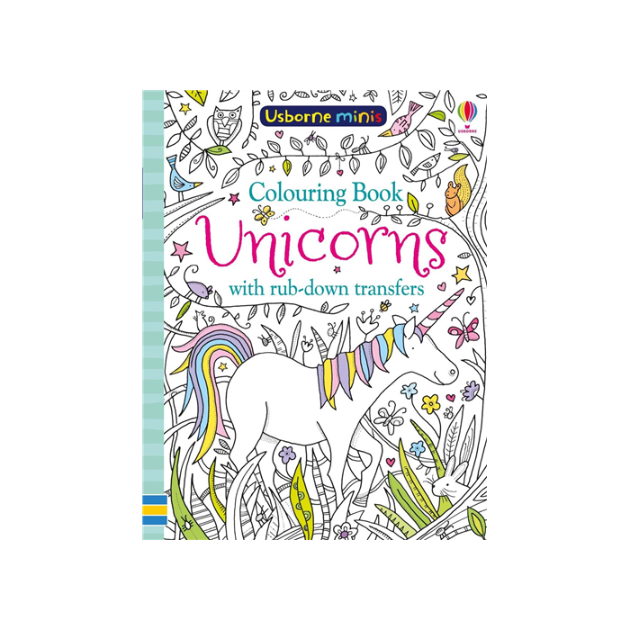 Colouring Book Unicorns with rub-down transfer