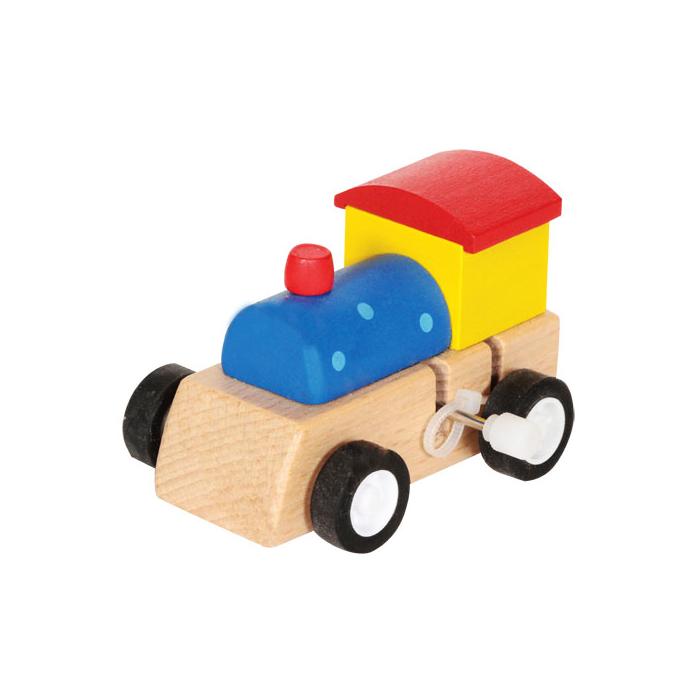 Fajáték - Felhúzható mozdony