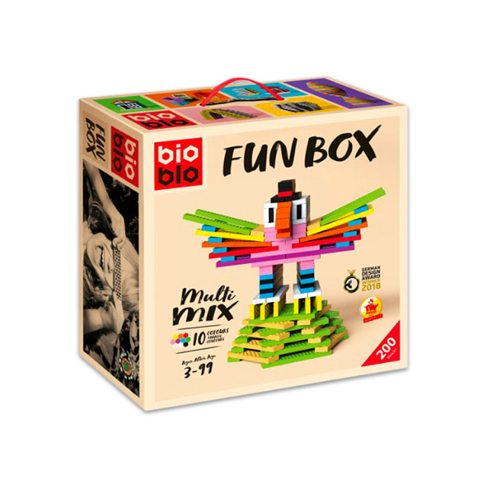 "Bioblo Fun Box ""Multi Mix"" 200 db-os építőjáték"