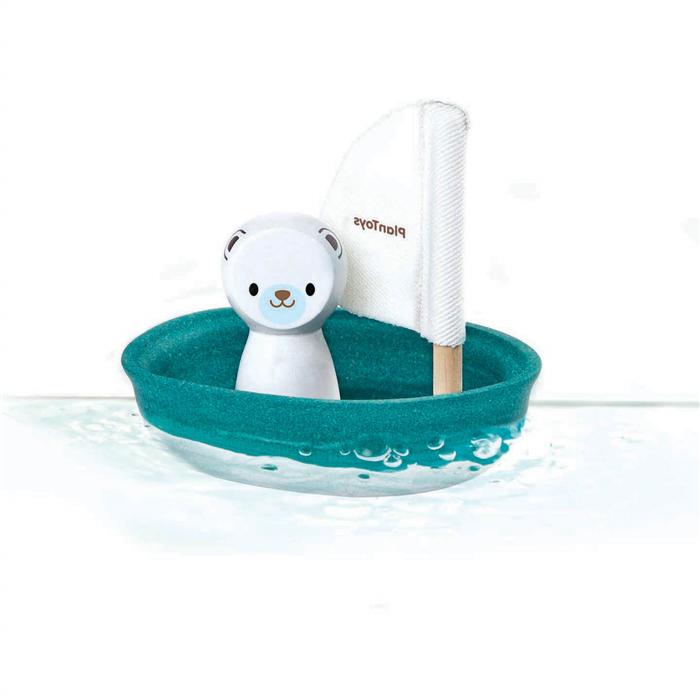 Plan Toys - Vitorlás csónak – Jegesmedve