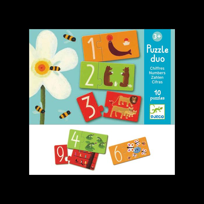 Djeco - Párosító puzzle - Számok