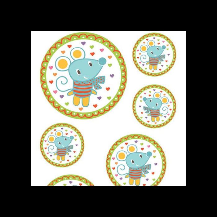 Aladine - Matrica készlet textilre - Egérkés medál