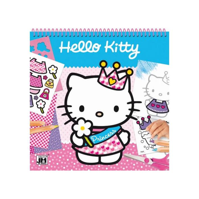 Hello Kitty - Rajzsablon matricákkal