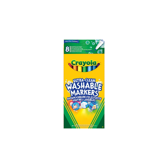 Crayola - Extra kimosható filctoll - 8 db-os