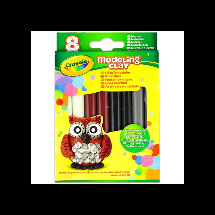 Crayola - Gyurma - 8 db - natúr színek