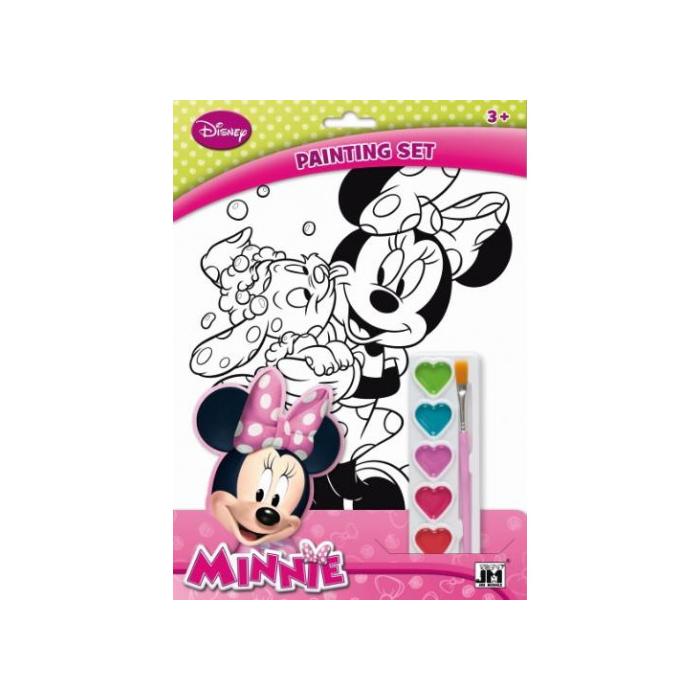 Minnie kifestő 6 db festékkel