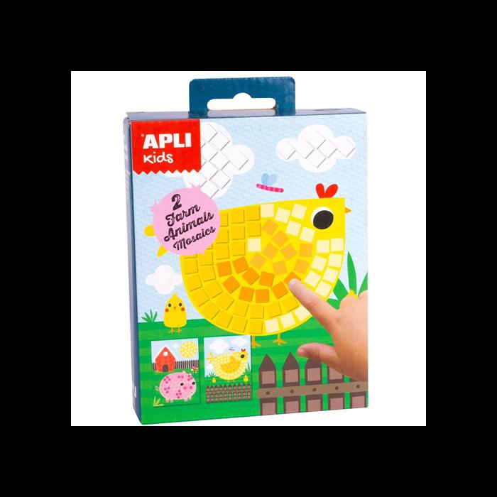 Apli Kids - Mini Kit mozaiktechnika - Farmállatok