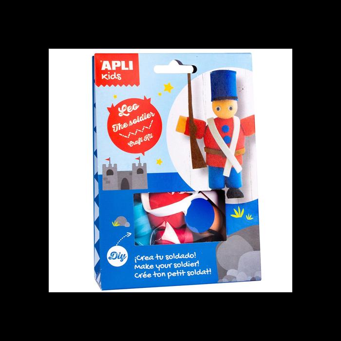 Apli Kids - Craft Kit figura készítő - Leo,a katona