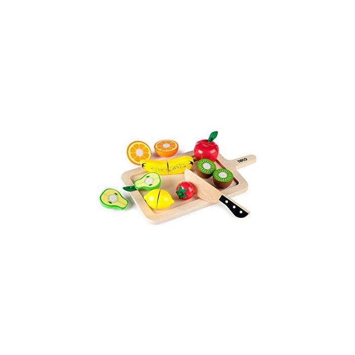 Tidlo - Fajáték - Fából készült szeletelhető gyümölcsök