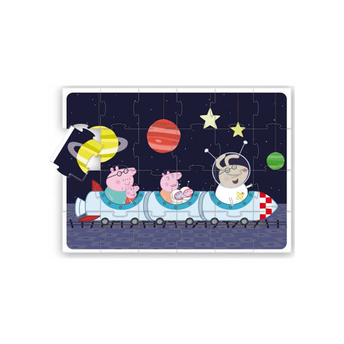 Peppa malac - Parkettpuzzle - Peppa az űrben - 24 db-os