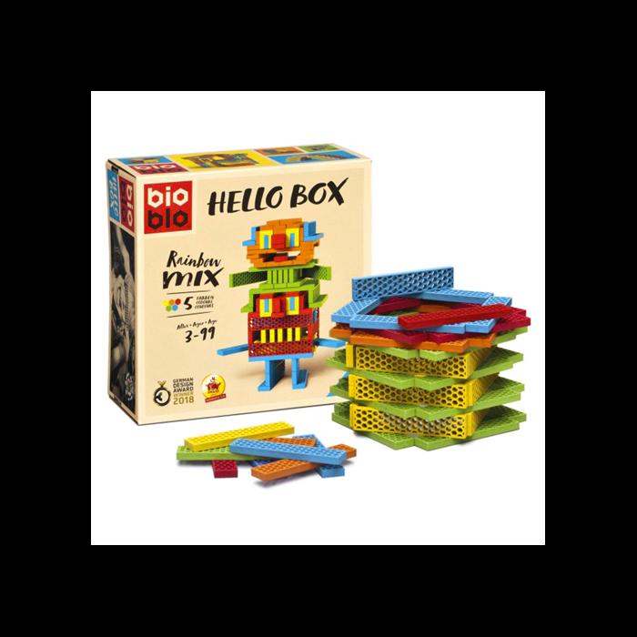 "Bioblo Hello Box ""Rainbow Mix"" 100 db-os építőjáték"