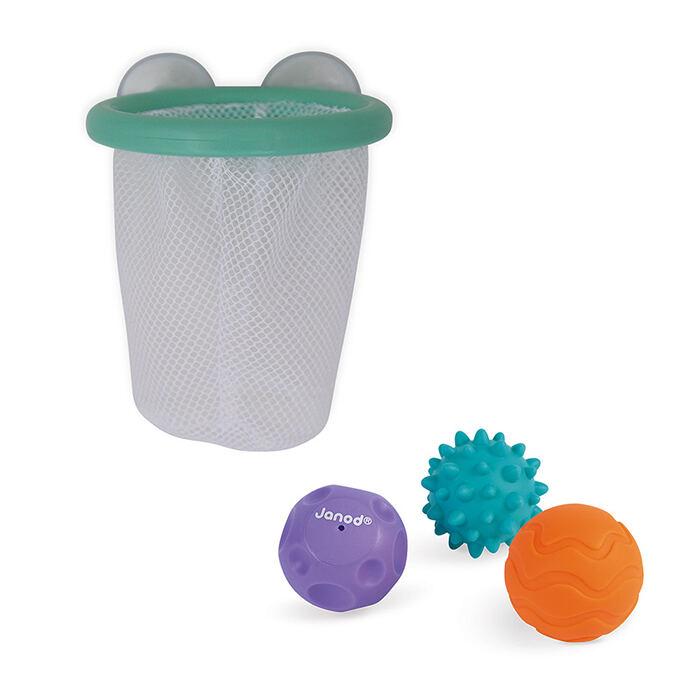 Janod - Fürdőjáték - érzékelő labdák hálóval