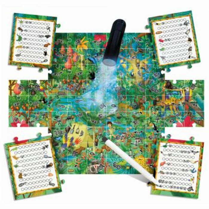 Megfigyeltető puzzle mágikus lámpával - Fedezd fel az erdőt!