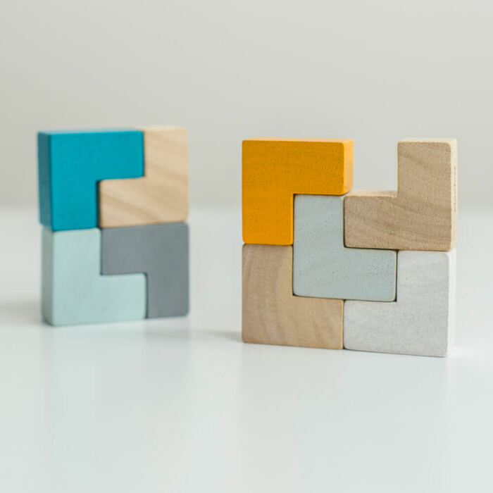 Plan Toys - 3D kocka puzzle