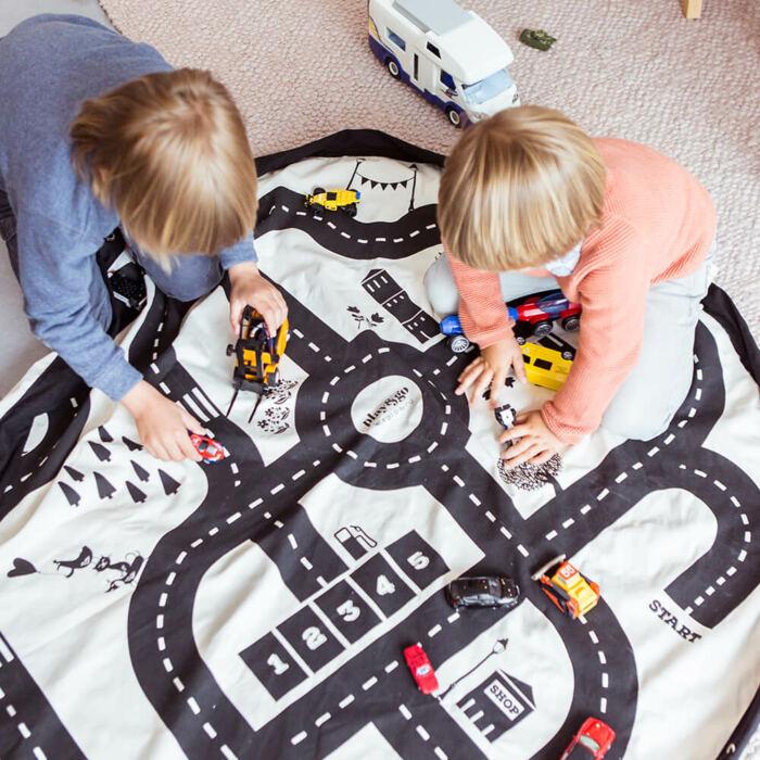Play&Go - Játéktároló zsák – autópálya