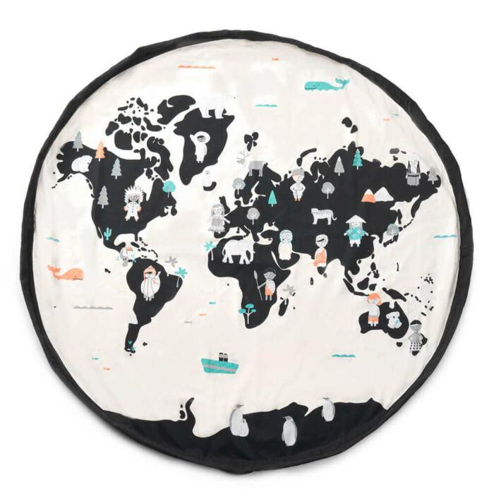 Play&Go - Játéktároló zsák – világtérkép
