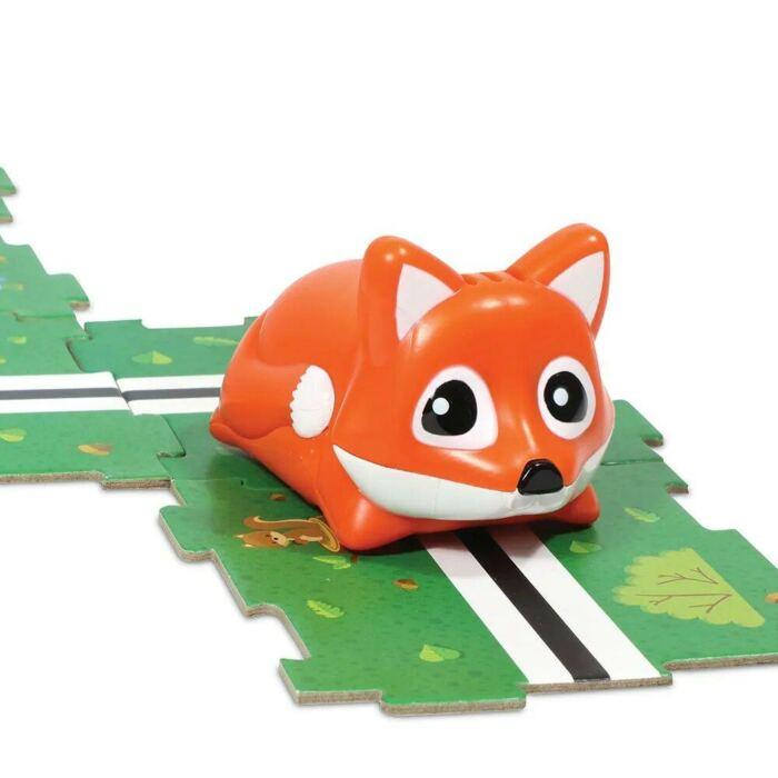 Nyomkövető robot kirakós játék - róka