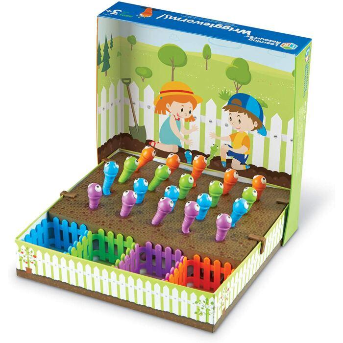 Wriggleworms - Csipeszes kukacos finommotorika fejlesztő játék
