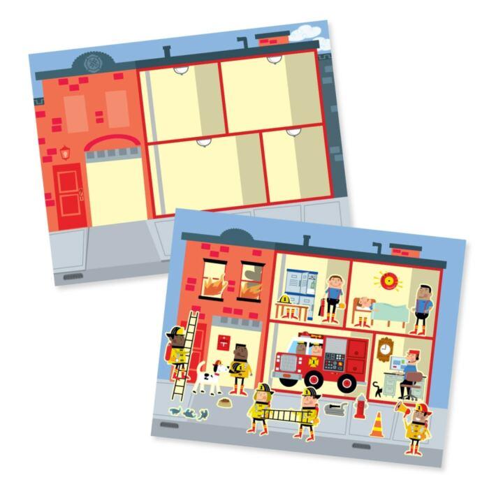 Melissa & Doug Kreatív játék, Újrahasználható matrica készlet, város