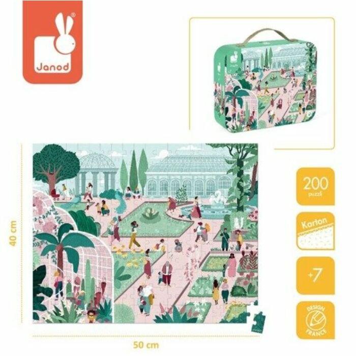 Janod - Botanikus kert puzzle - 200db