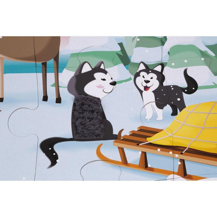Janod - Élet a jégen - tapintós puzzle - 20 db