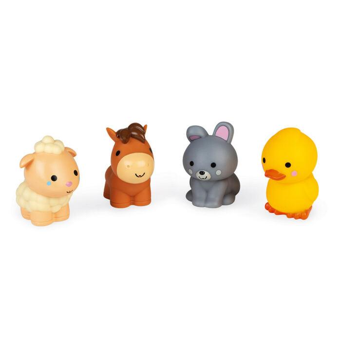 Janod - Fürdőjáték - 4 farm állat